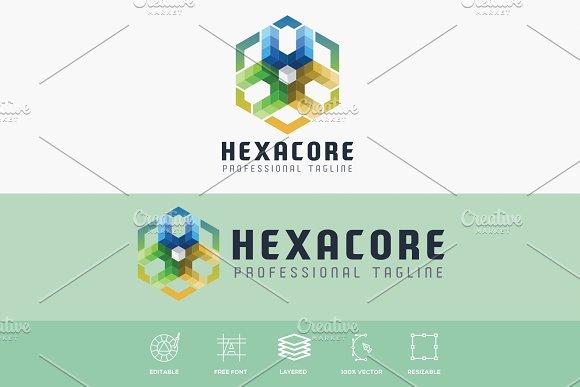 Hexa Core Modern Logo