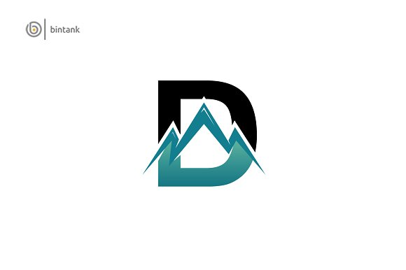 D Logo Mountain Symbol