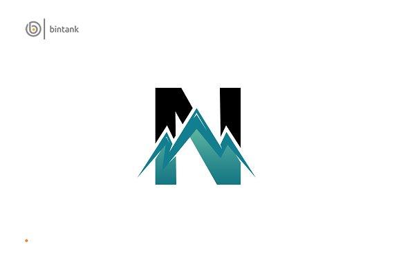N Letter Mountain Logo