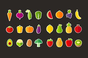 Fresh healthy fruits and vegetables