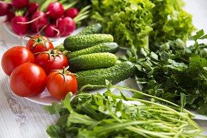 Set of different organic ingredients
