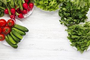 Ingredients of fresh summer salad