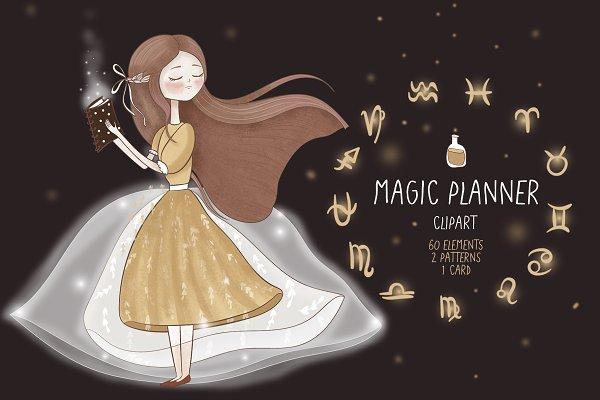 Magic planner clipart