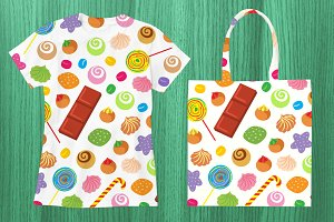 Candy and Sweets Vector Pattern