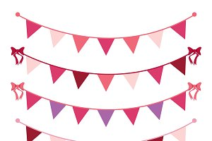 Valentine Bunting Vectors & Clipart
