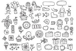 Fancy Random Icons Vector Pattern