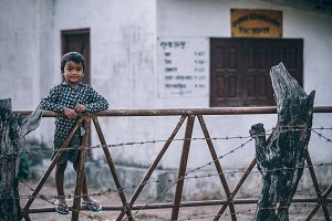 Adorable Young Nepali Boy