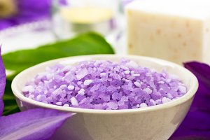 Purple Salt for Spa and Aromatherapy