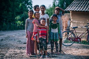 Happy Nepali Village Kids