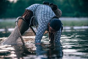 Nepali Mom Fishing