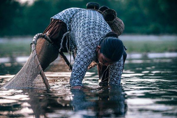 People Stock Photos: Inspirationfeed - Nepali Mom Fishing