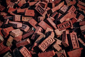 Orange Construction Bricks