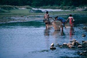 Three Women Fishing