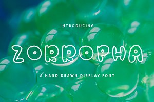 ZORROPHA BUBBLE FONT HEADER