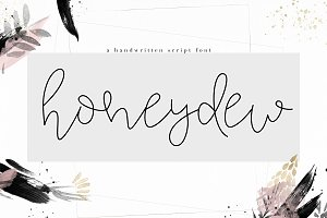 Honeydew - Handwritten Script Font