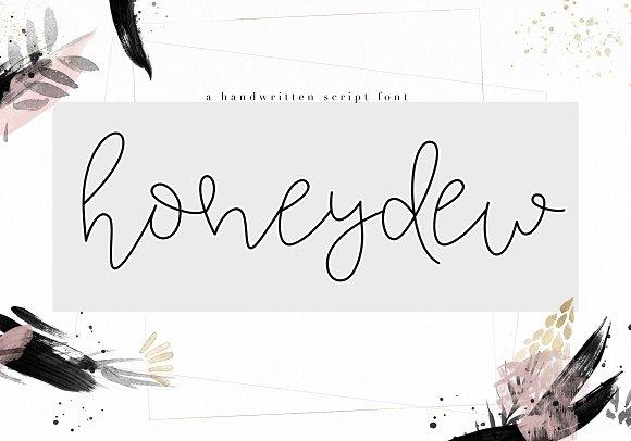 Honeydew Handwritten Script Font