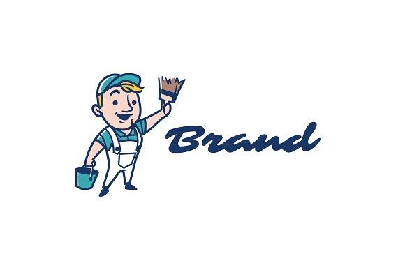 Painter Mascot Logo