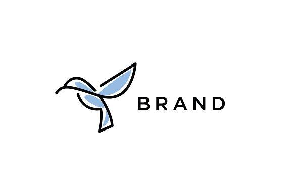 Line Hummingbird Logo