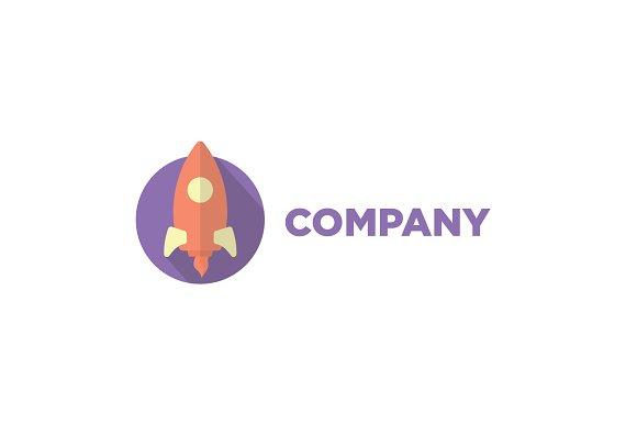 Flat Rocket Logo