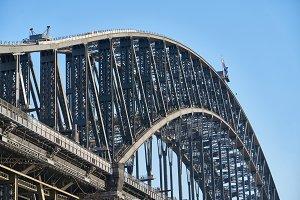 Sydney Harbour Bridge Close Up