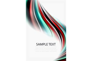 Rainbow color waves, vector blurred abstract background