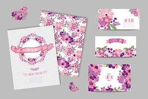 Wedding Floral Cards