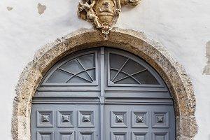 Vintage wooden entry door