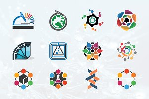 12 Colorful Science Education Logo