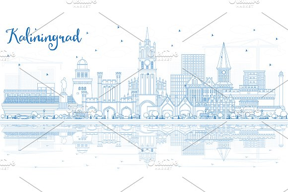 Outline Kaliningrad Russia City