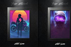 Matte Black Art Gallery Frames (PSD)