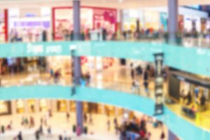 Blurred image of Dubai shopping Mall