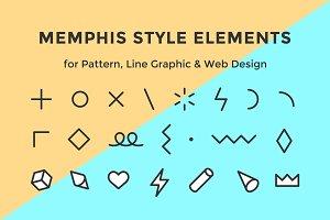 Memphis style elements