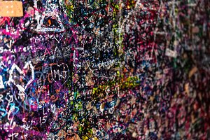 The wall full of messages, Verona,