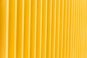 Detail of yellow metal building