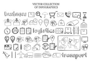 Sketch Infographic Logistic Icons