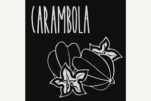 Chalkboard starfruit or carambola