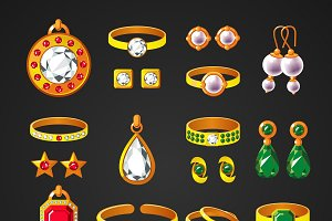Jewelry Accessories Icons Set