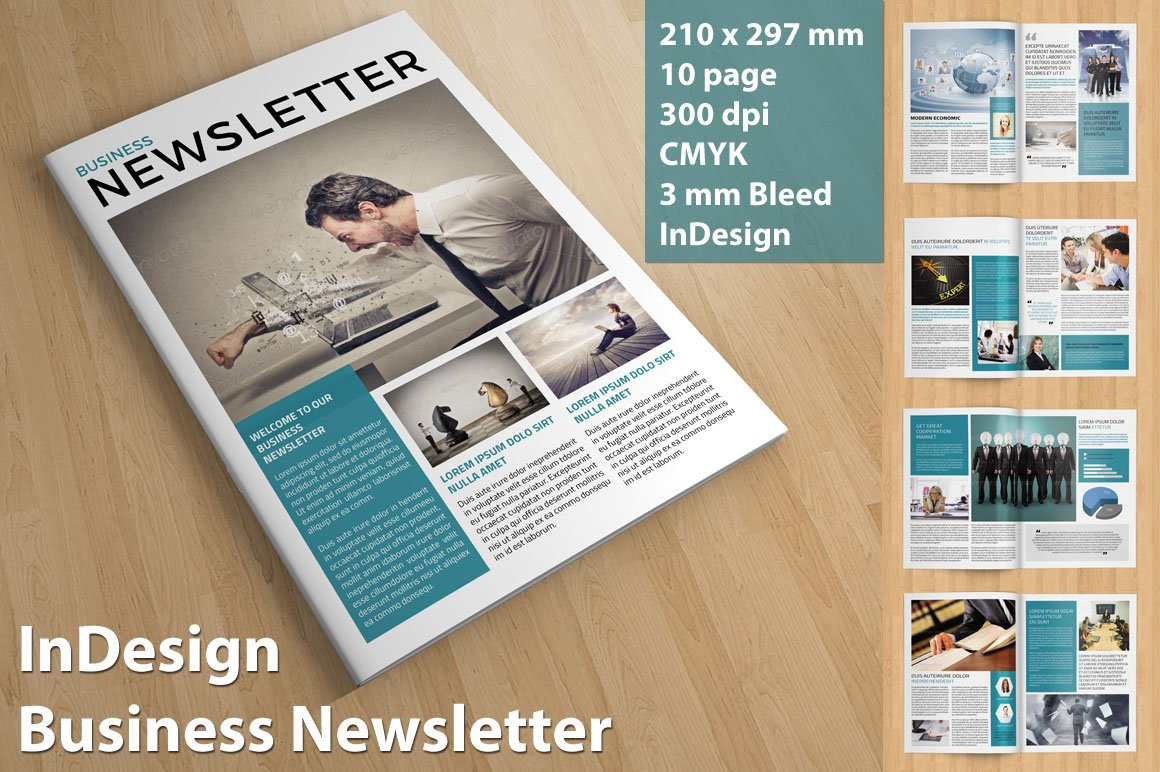 Business Newsletter ~ Brochure Templates ~ Creative Market