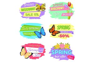 Spring Discount Sale 15% New Offer Super Price Set