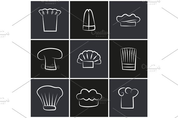 Variety Chef Hats Set Of White Cook Headwear Logo