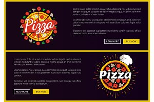 Pizza Restaurant Promotional Internet Pages Set