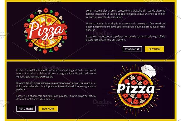 Pizza Restaurant Promotional Internet Pages Set