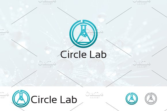 Circle Lab Laboratory Logo