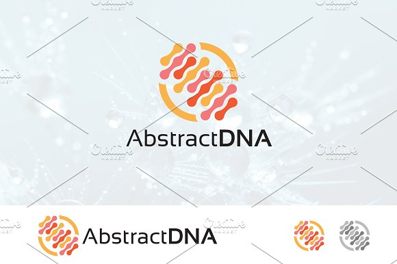 DNA Abstract Logo Genetic Biotech
