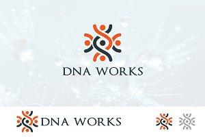 DNA Logo Genetic Biotech Work