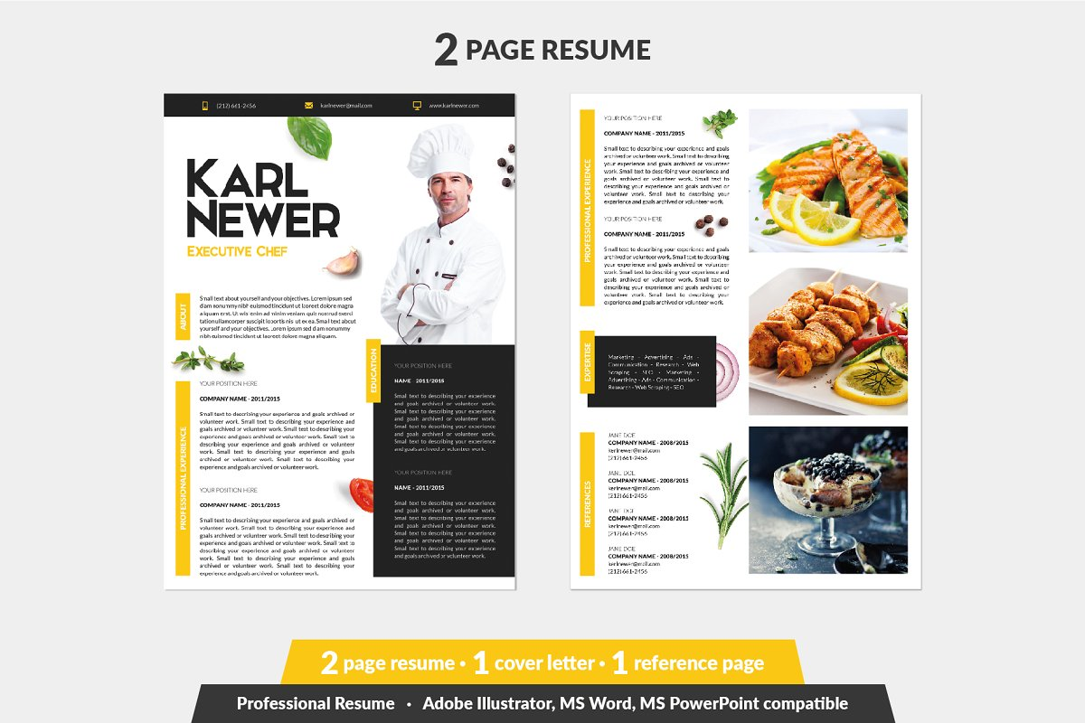 Executive Chef Resume Template ~ Resume Templates ~ Creative ...