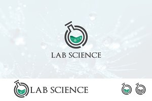 Elegant Lab Laboratory Science Logo