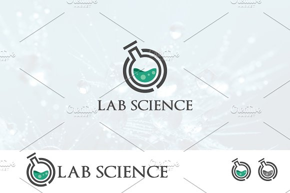 Elegant Lab Laboratory Science Logo