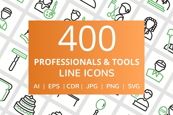 400 Professionals Their Tools Line
