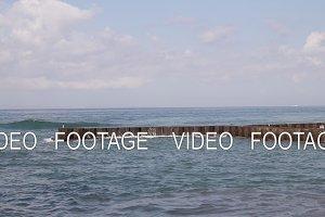 Ocean waves. Bali island.